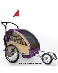 Dječja kolica za bicikl 2u1 - Dječja prikolica za bicikl