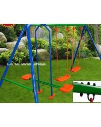Ljuljačka za djecu vrtna velika, 4 sjedišta