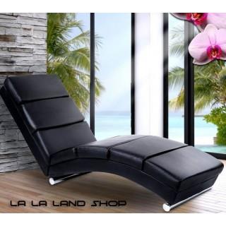 FOTELJA - LEŽALJKA Lounge - Dizajnerska - CRNA i BIJELA