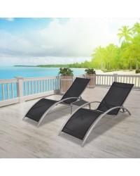 LEŽALJKE za plažu, bazene .. LOUNGE ALU KOMPLET - 2 ležaljke + stol