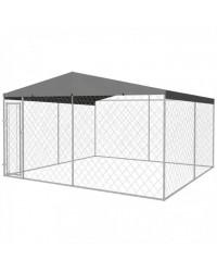 BOX ZA PSE I ŠTENCE - KAVEZ ZA PSE I ŠTENCE, 4×4 m (16 m2) SA KROVOM