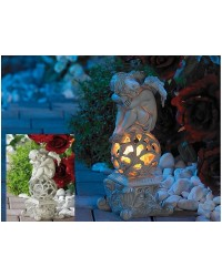 Anđeo skulptura sa solarnom LED rasvjetom za vrt